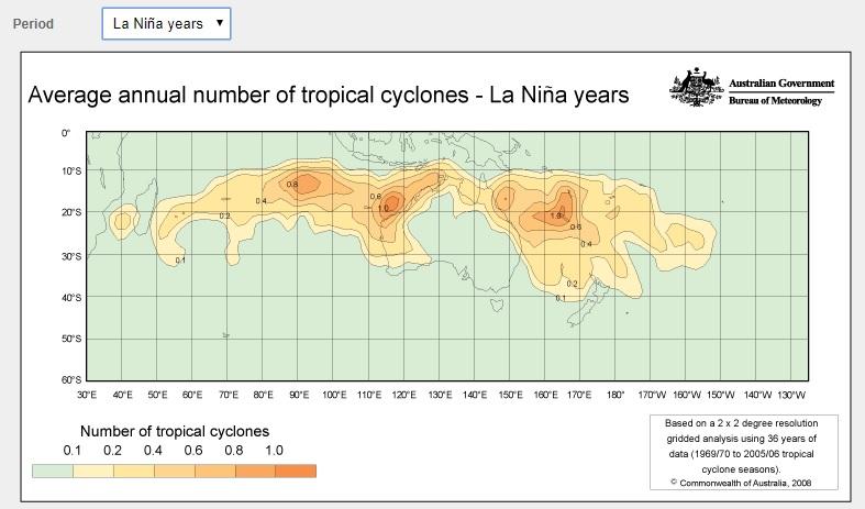 BOM map la Nina