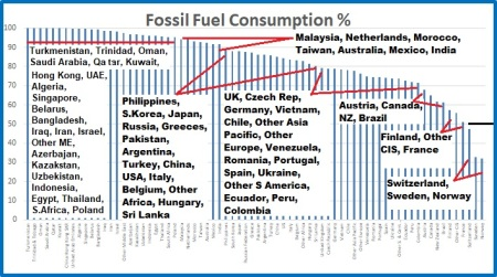 Fossil cons %