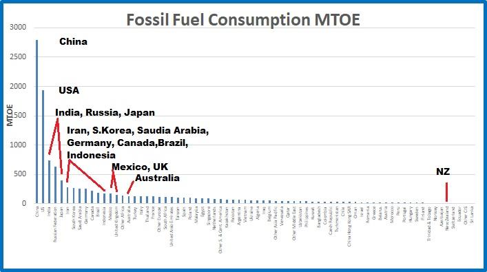 Fossil cons MTOE