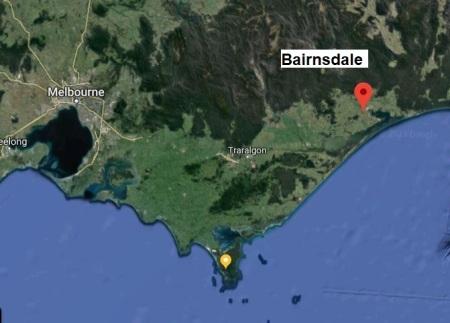 Bairnsdale map