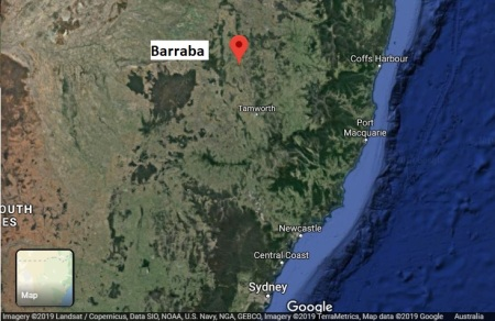 Barraba map