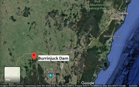 Burrinjuck map