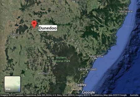 Dunedoo map