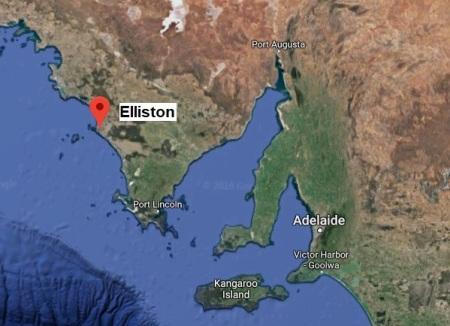 Elliston 18069 map