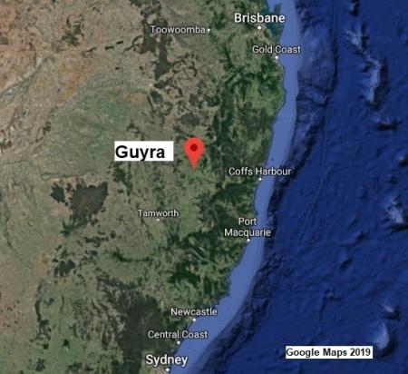 Guyra map