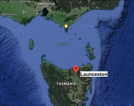 Launceston map