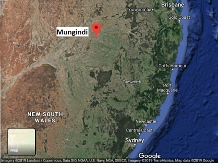 Mungindi map