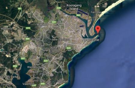 Newcastle Nobbys map