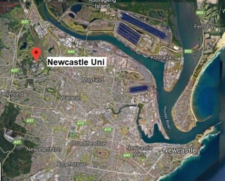 Newcastle Uni map