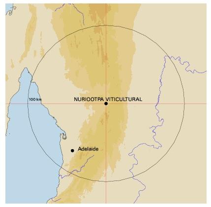 Nuriootpa map