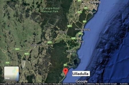 Ulladulla map