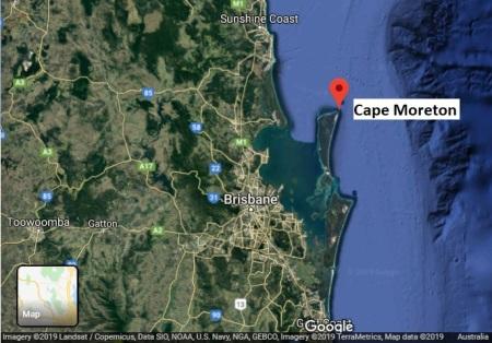 CapeMoreton map