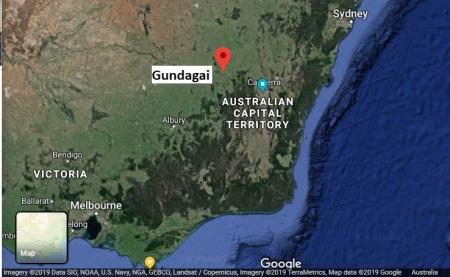 Gundagai map